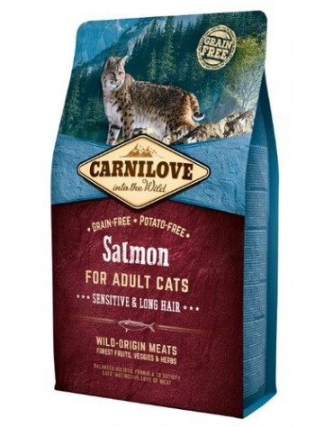 Carnilove Cat Salmon Sensitive & Long Hair - łosoś 2kg