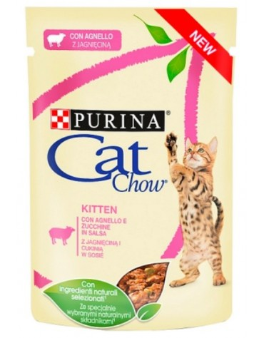 Purina Cat Chow Kitten Jagnięcina saszetka 85g