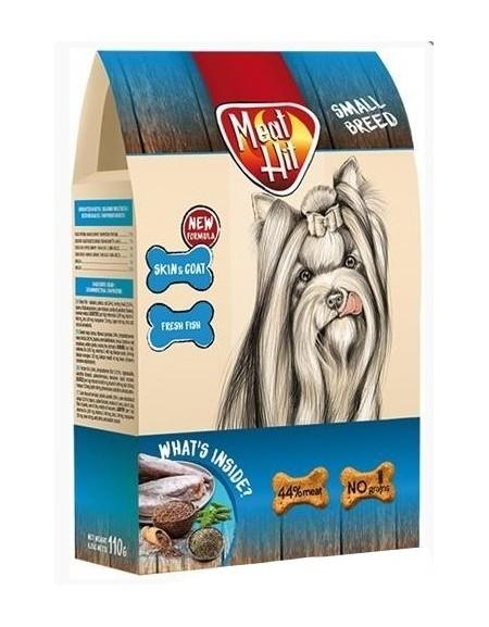 MeatHit Skin & Coat Small - ciastka dla psa 110g