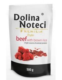 Dolina Noteci Premium Pies Pure Wołowina i ryż saszetka 500g