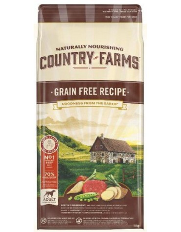 Country Farms Grain Free Adult Beef 11kg