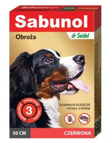 Sabunol GPI Obroża przeciw pchłom dla psa czerwona 50cm