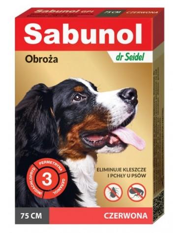Sabunol GPI Obroża przeciw pchłom dla psa czerwona 75cm