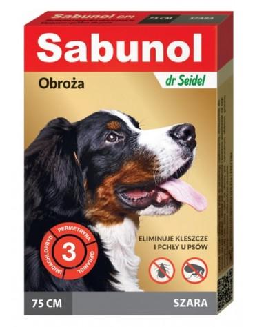 Sabunol GPI Obroża przeciw pchłom dla psa szara 75cm
