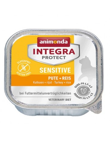 Animonda Integra Protect Sensitive dla kota - z indykiem i ryżem tacka 100g