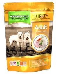 Natures Menu Pies - indyk, kurczak i warzywa saszetka 300g
