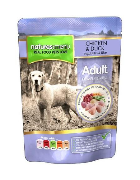 Natures Menu Pies - kurczak kaczka warzywa i ryż saszetka 300g