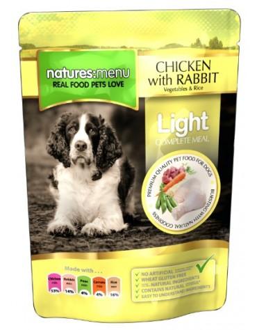 Natures Menu Pies Light - kurczak królik warzywa i ryż saszetka 300g