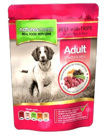 Natures Menu Pies - wołowina podroby warzywa i ryż saszetka 300g
