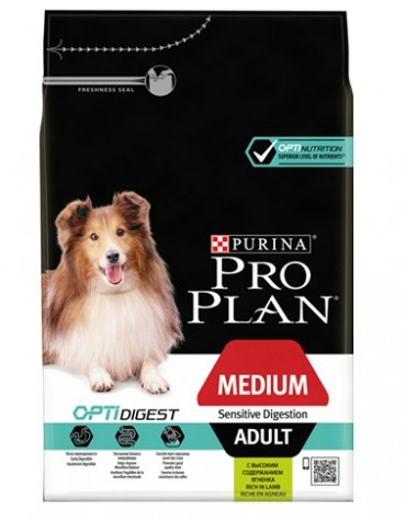 Purina Pro Plan Adult Medium Sensitive Digestion OptiDigest 3kg