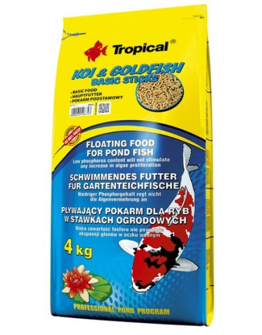 Tropical Koi & Goldfish Basic Sticks worek 4kg