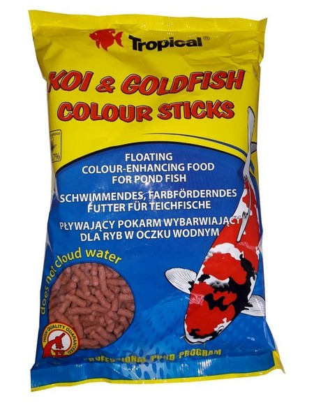 Tropical Koi & Goldfish Colour Sticks worek 90g