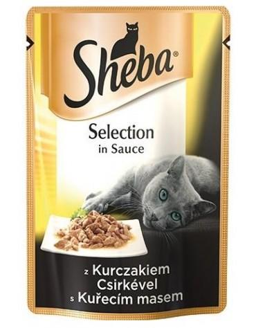 Sheba Selection z Kurczakiem w sosie saszetka 85g