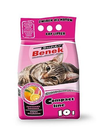 Super Benek Compact Zapachowy Cytrusowa Świeżość (różowy) 10L
