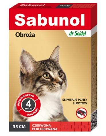 Sabunol Obroża przeciw pchłom dla kota czerwona 35cm