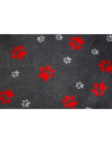 Canifel DryBed Posłanie 75x50cm Duo Paw BK/RD - grafitowo-czerwone