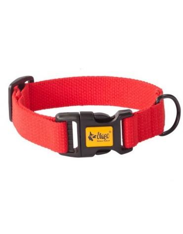 Dingo Obroża regulowana z taśmy bawełnianej 2,5x55cm czerwona