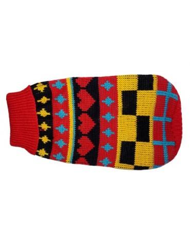 """Doggy Fashion Golf 25cm/8"""" czerwony ze wzorem"""