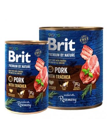Brit Premium By Nature Pork & Trachea puszka 400g