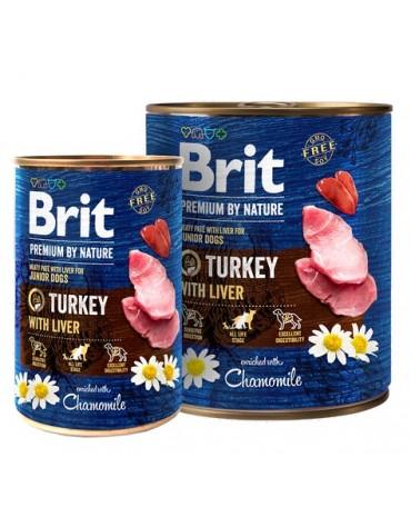Brit Premium By Nature Turkey & Liver Junior puszka 400g