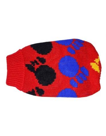 """Doggy Fashion Golf 20cm/6"""" czerwony ze wzorem"""