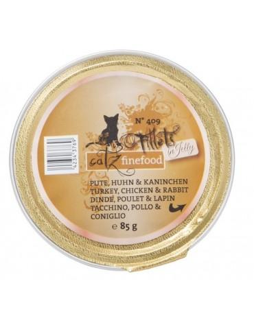 Catz Finefood Filety N.409 Indyk/Kurczak/Królik tacka 85g