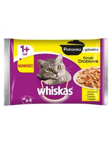 Whiskas Drobiowa Potrawka w galaretce saszetki 4x85g