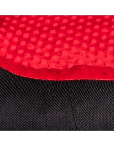 Bimbay Pokrowiec do kanapy Minky r.2 - 80x65cm czarny-czerwony