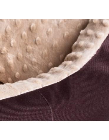 Bimbay Pokrowiec do kanapy Minky r.3 - 100x80cm brąz-beż