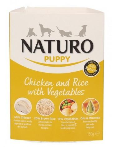 Naturo Puppy Kurczak z ryżem i warzywami 150g