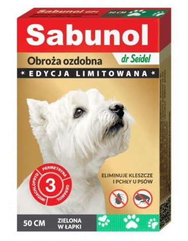 Sabunol GPI Obroża przeciw pchłom dla psa zielona Limitowana Edycja 50cm