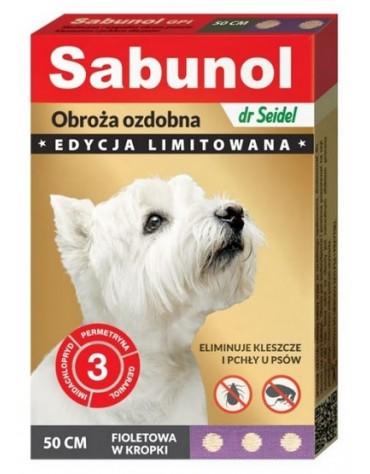 Sabunol GPI Obroża przeciw pchłom dla psa fioletowa Limitowana Edycja 50cm