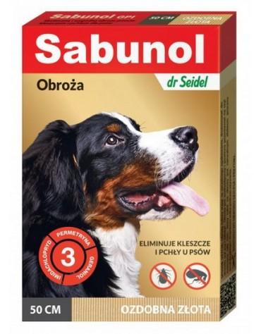 Sabunol GPI Obroża przeciw pchłom dla psa ozdobna złota 50cm