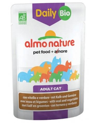 Almo Nature Daily Bio Kot - Cielęcina i warzywa saszetka 70g [5283]