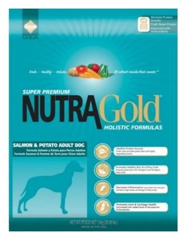 Nutra Gold Holistic Salmon & Potato Adult Dog 15kg