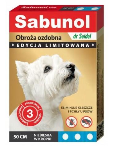 Sabunol GPI Obroża przeciw pchłom dla psa niebieska Limitowana Edycja 50cm