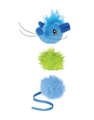 Petstages Szczurek i piłeczki - multipak dla kota PS90029