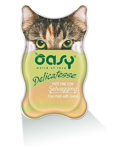 Oasy Kot Delicatesse Pate Dziczyzna 85g
