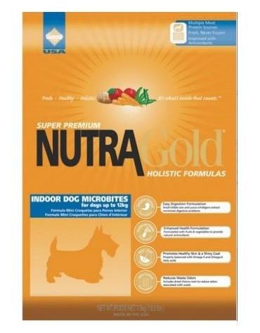 Nutra Gold Holistic Indoor Adult Dog Microbites 3kg