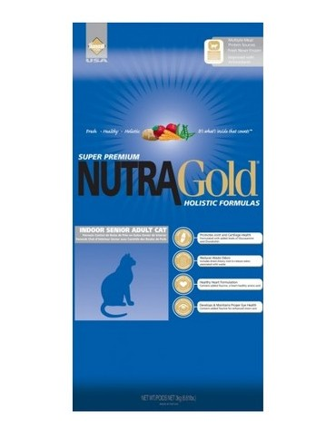 Nutra Gold Holistic Indoor Senior Cat 1kg