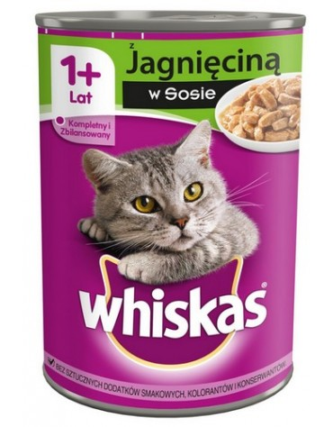 Whiskas Jagnięcina puszka 400g