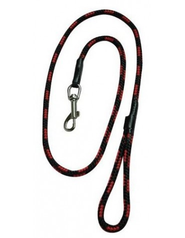 CHABA Smycz linka - 14mm x 120cm czarno-czerwona