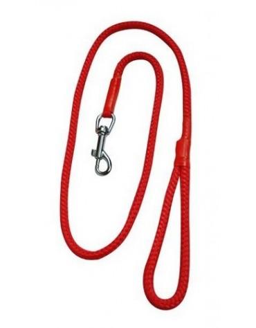 CHABA Smycz linka - 6mm x 120cm czerwona