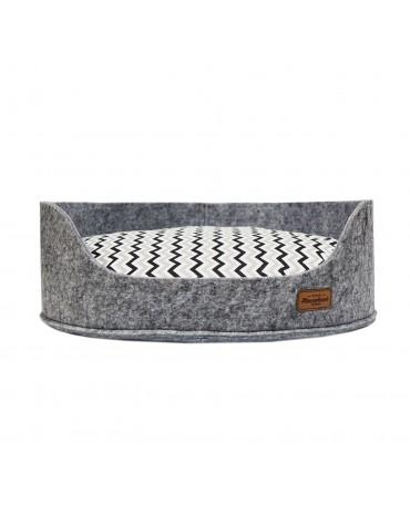 Sofa filc z poduszką Crete blk/grey