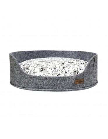 Sofa filc z poduszką Azowian grey