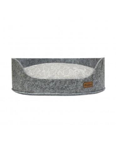 Sofa filc z poduszką Kara