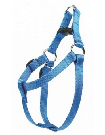 CHABA Szelki taśma regulowane nr 4 - obwód 70cm niebieskie