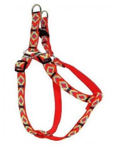 CHABA Szelki taśma ozdobne nr 1 - obwód 40cm czerwone