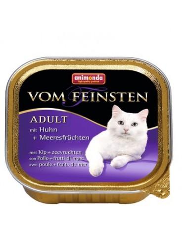 Animonda vom Feinsten Cat Adult z Kurczakiem i Owocami Morza tacka 100g
