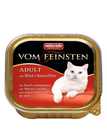 Animonda vom Feinsten Cat Adult z Wołowiną i Ziemniakami tacka 100g